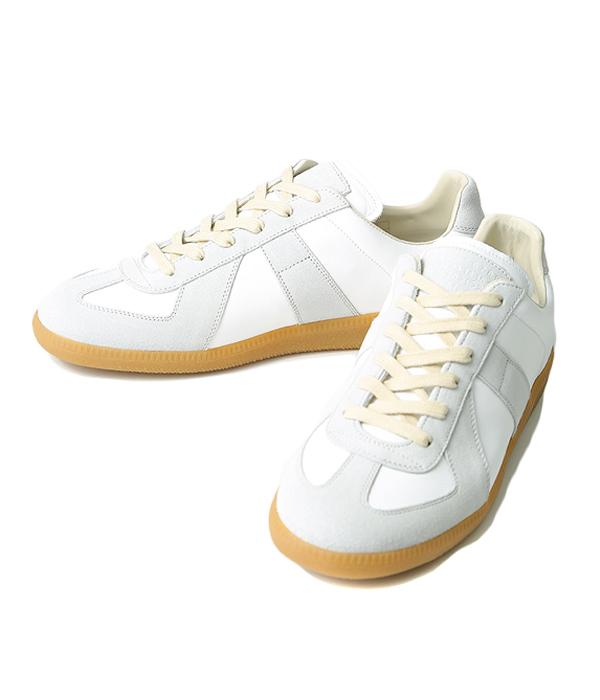 Maison Margiela / メゾン マルジェラ : 【メンズ】Replica Sneaker / 全2色 : ホワイト ブラック レプリカ スニーカー 靴 シューズ ジャーマントレーナー マルタンマルジェラ : S57WS0175-bjb【BJB】