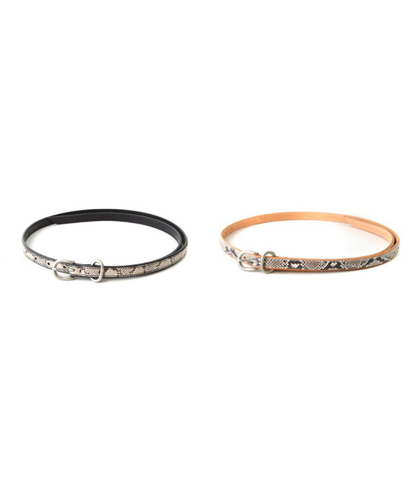 Hender Scheme / エンダースキーマ : python tail belt / 全2色 : パイソンテイルベルト ベルト : fl-rc-tlb【BJB】【RIP】