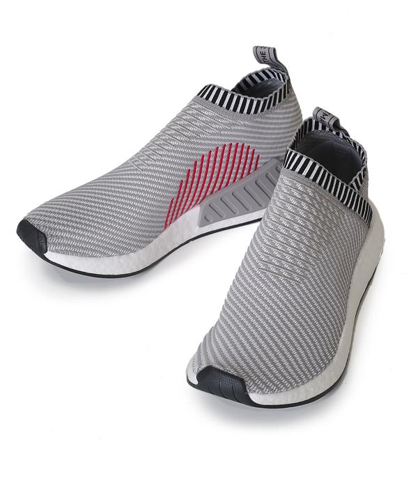 adidas Originals / アディダス オリジナルス : 【メンズ】NMD_CS2 PK-DGH ソリッドグレー/ランニングホワイト/ショックピンク : エヌ エム ディー エヌエムディー スニーカー 靴 シューズ : BA7187-re 【REA】