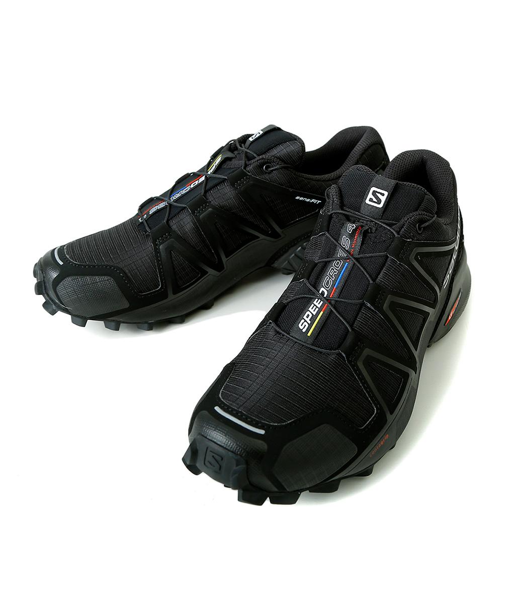 SALOMON / サロモン : SPEEDCROSS 4 BLACK/BLACK/BLACK METALLIC : スピードクロス スニーカー アウトドア シューズ メンズ : L38313000【REA】
