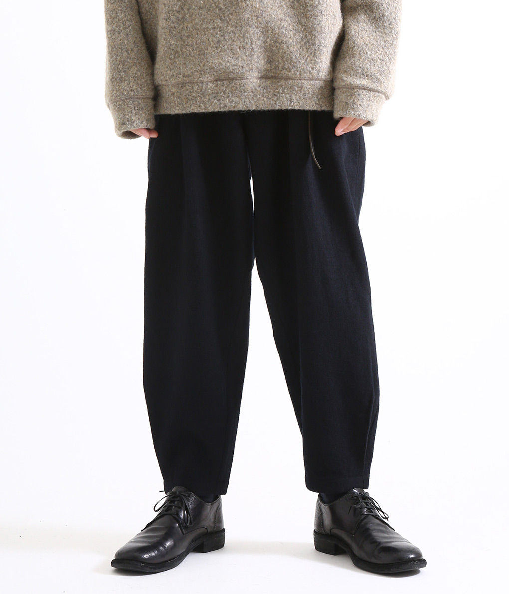 marka / マーカ : STRAIGHT TUCK PANTS - WOOL VIYELLA FULLING - : ストレートタックパンツ タックパンツ イージーパンツ : M18C-15PT01C 【COR】【WIS】