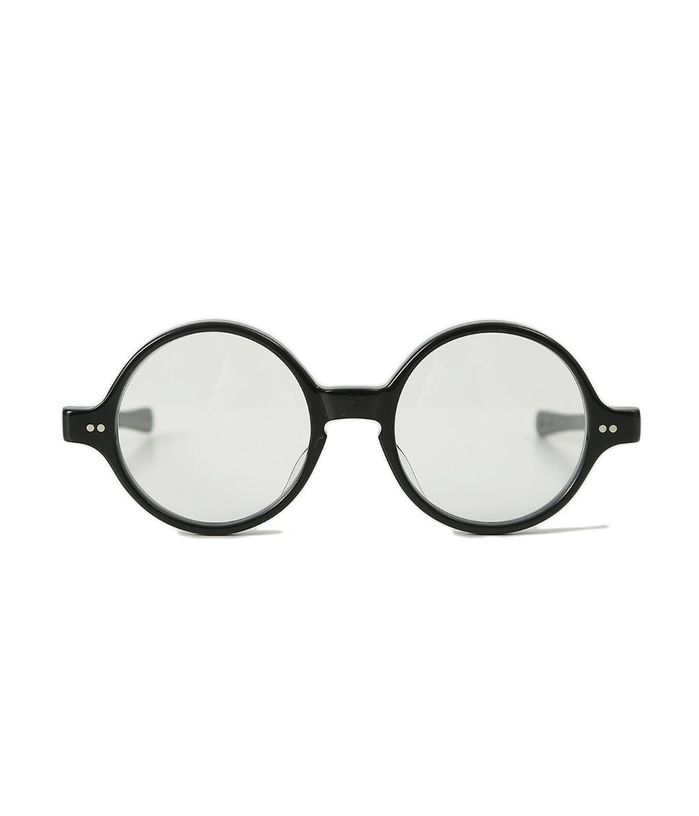 JULIUS TART OPTICAL / ジュリアスタートオプティカル : T-ROUND 46-19 48-21 -BLACK/CLEAR- : サングラス アクセサリー メガネ 眼鏡 アイウェア : JTPL-016A-7A-wise【WIS】