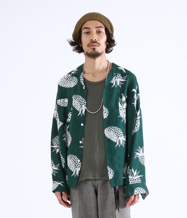 marka / マーカ : OPEN COLLAR SHIRTS L/S - ALOHA - / 全2色 : マーカ 長袖シャツ オープンカラーシャツ アロハシャツ レーヨンシャツ メンズ : M18A-09SH01C【COR】【WIS】