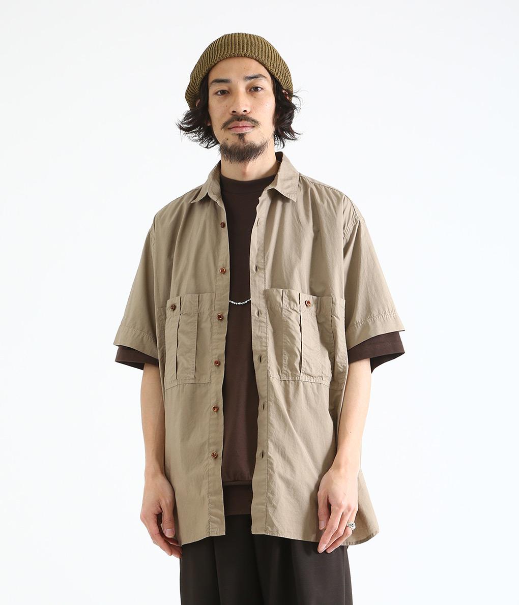 marka / マーカ : TUCK POCKET SHIRTS : タック ポケット シャツ 半袖シャツ タイプライター メンズ : M19B-06SH01B 【COR】