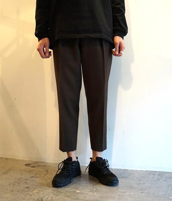 ■【予約商品 2019年8月~9月入荷予定】MARKAWARE / マーカウェア : PLEAT FRONT PEGTOP -ORGANIC WOOL SURVIVAL CLOTHS- : フロント ペグトップ オーガニックウール パンツ : A19C-06PT01C 【WIS】