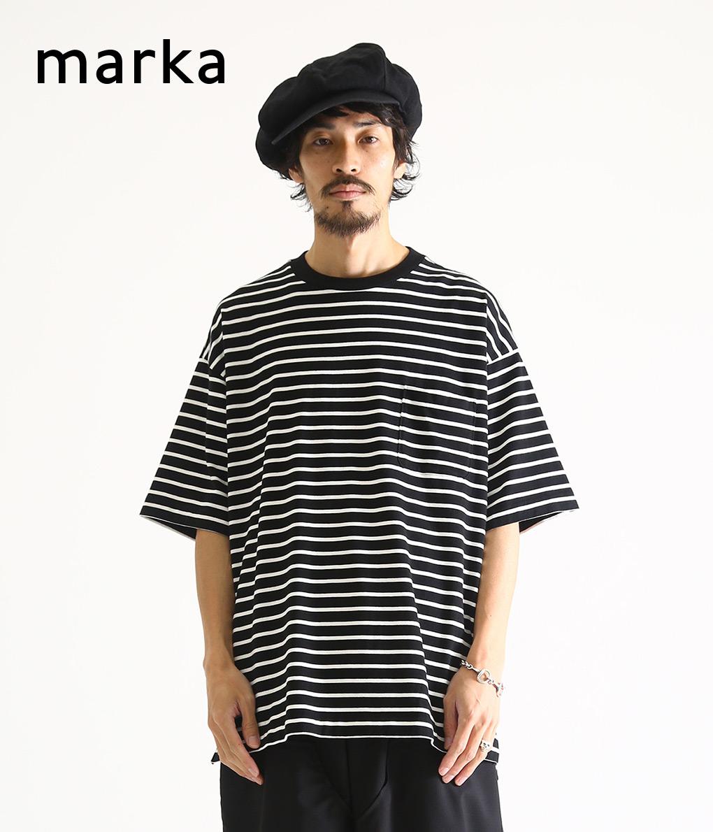 marka / マーカ : POCKET TEE S/S - cotton knit boder - : マーカ ポケットティー Tシャツ ロングスリーブTシャツ ボーダーT メンズ : M20A-17CS01B 【COR】【WIS】