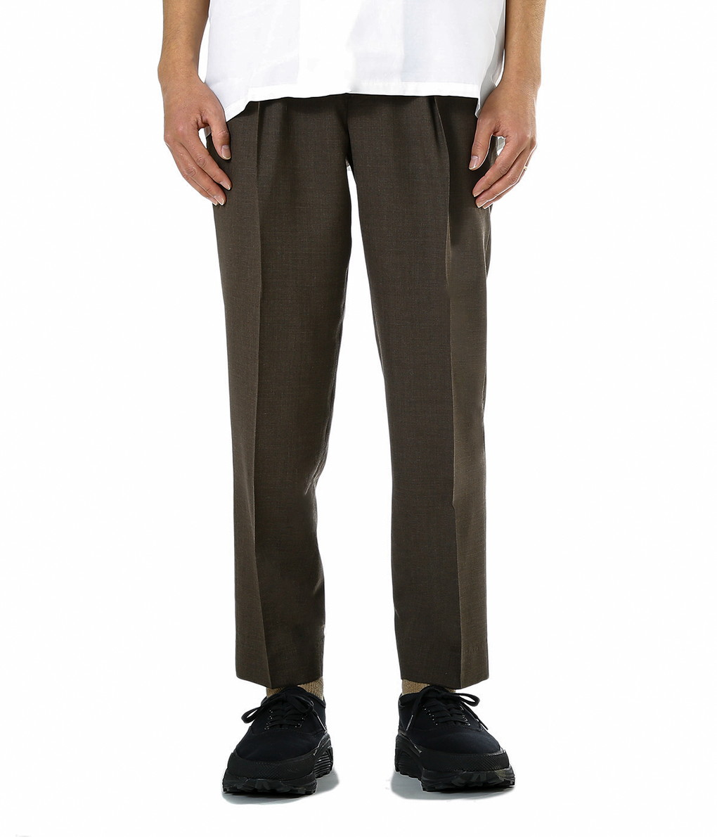 MARKAWARE / マーカウェア : PEG TOP EASY TROUSERS -SUPER 120's WOOL TROPICAL- : ペグトップ イージー トラウザーズ : A19A-12PT01C-wise 【WIS】