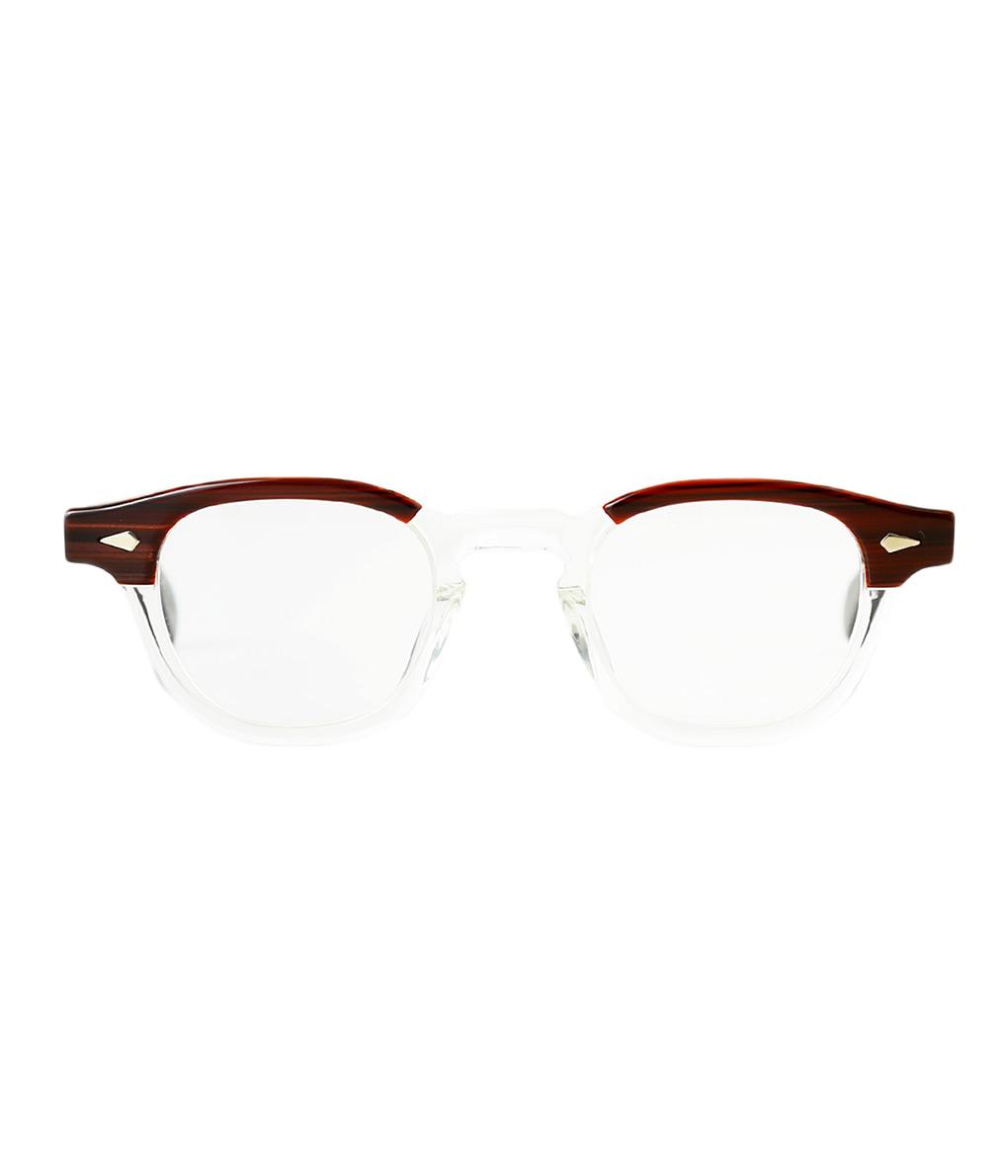 JULIUS TART OPTICAL / ジュリアスタートオプティカル : AR 44-24 - RED WOOD / CLEAR - : サングラス アクセサリー メガネ 眼鏡 : JTPL-101J-2J-wise【WIS】