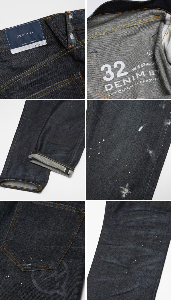 DENIM BY VANQUISH & FRAGMENT the denim by vanquish fragment and one year wash wide straight denim pants (one-year wash stretch denim pants) VFP1058-wise