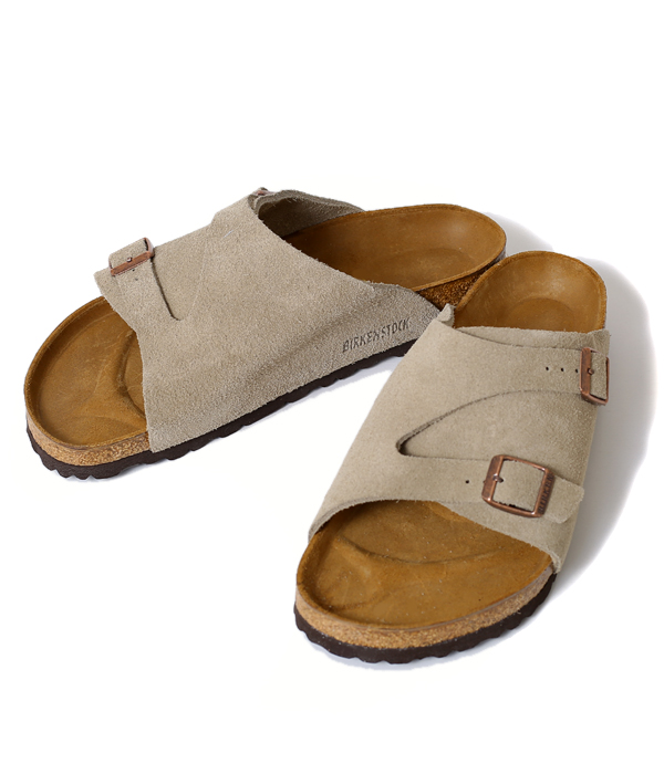 BIRKENSTOCK [ビルケンシュトック] ZURICH SUEDE LEATHER トープ (approximately 25cm 28cm) (Zurich suede building Ken sandal light weight leather) GC050461