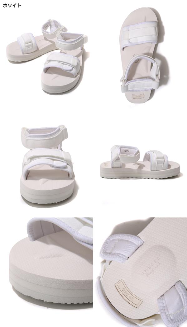 UNUSED/x SUICOKE Vegtable leather and vibram. / 2 colors (sicock-Vibram sole sandal shoe) UH0409