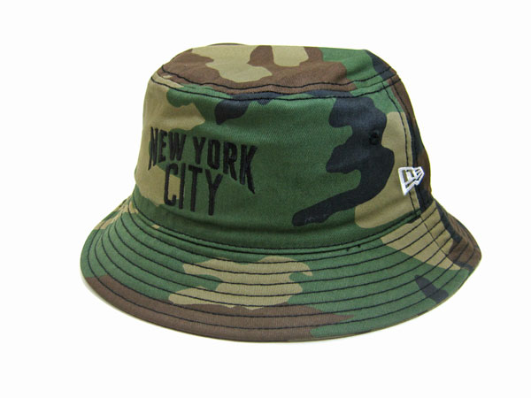 NEW ERA(ニューエラ)/Bucket-01/ Woodland Camo[NEW YORK CITY]/バケットハット