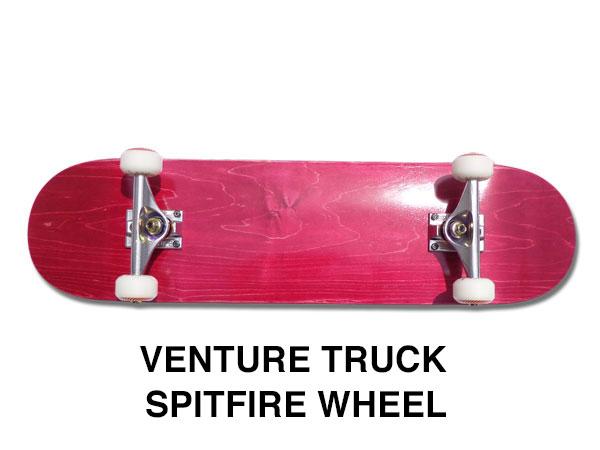 【スケボー/スケートボード/完成品】【送料無料】ブランク BURGUNDY(バーガンディー)8インチ/VENTURE TRUCK/SPITFIRE WHEEL/コンプリートセットB