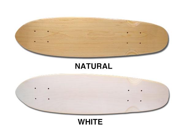 【スケボー/スケートボード/パーツ】REPTILE/ブランクデッキ クルーザーNATURAL or WHITE/6.5×25インチ