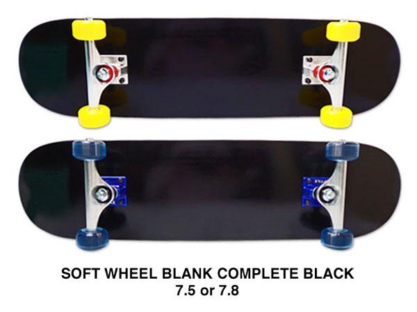 【スケボー/スケートボード/完成品】【送料無料】arktz(アークティーズ)オリジナル・ソフトウィールコンプリートセット/ブラック 7.5or7.8/パーツごとに色が選べます