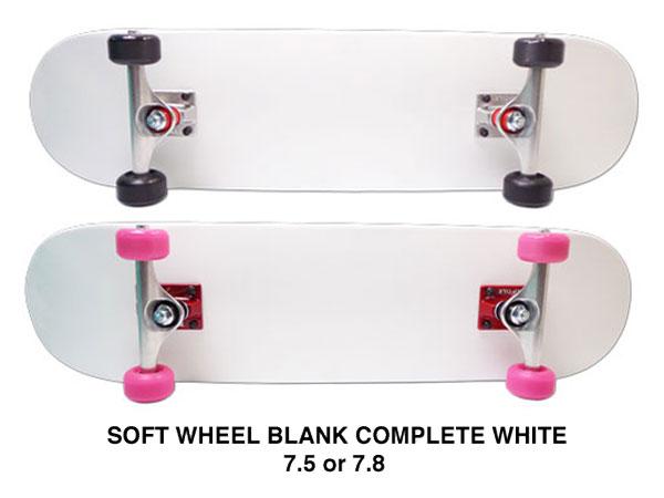 【スケボー/スケートボード/完成品】【送料無料】arktz(アークティーズ)オリジナル・ソフトウィールコンプリートセット/ホワイト 7.5or7.8/パーツごとに色が選べます