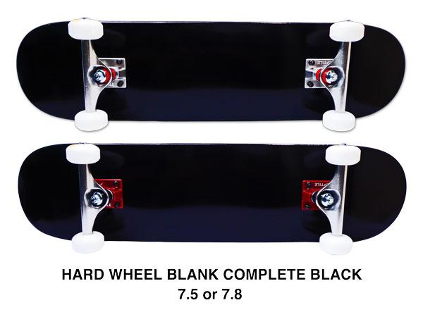 【スケボー/スケートボード/完成品】【送料無料】arktz(アークティーズ)オリジナル・コンプリートセットA/ブラック 7.5or7.8/パーツごとに色が選べます