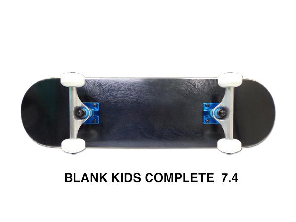 【スケボー/スケートボード/完成品】BLANK KIDS(ブランクキッズ) コンプリートセット 7.4インチ BLACK