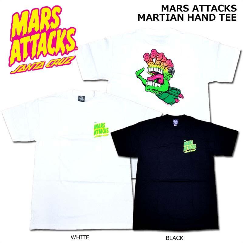 SANTA CRUZ(サンタクルーズ)/SANTA CRUZ×MARS ATTACKS/MARTIAN HAND TEE/マーズアタック!