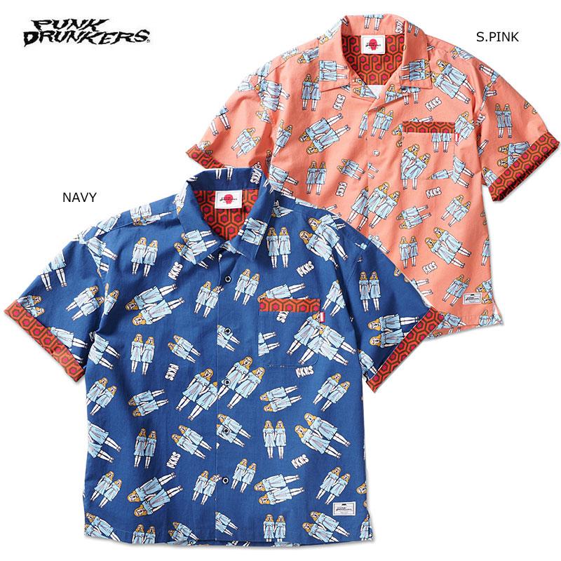 【予約】PUNK DRUNKERS(パンクドランカーズ)/双子総柄シャツ(上/トップス)/6月入荷予定