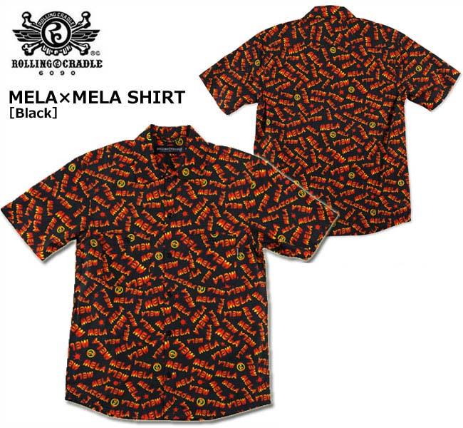 【SALE】【ロリクレ】ROLLING CRADLE(ローリングクレイドル)/MELA×MELA SHIRT[Black]/半袖シャツ