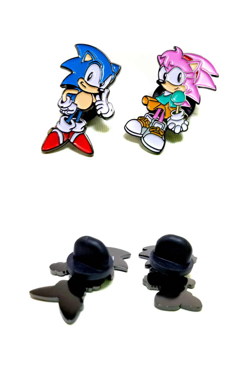The Collaboration Item Second With Sega Sonic Hedgehog It Is Enamel Pin Which Modelled And Emmie Let Alone One Piece Of Article