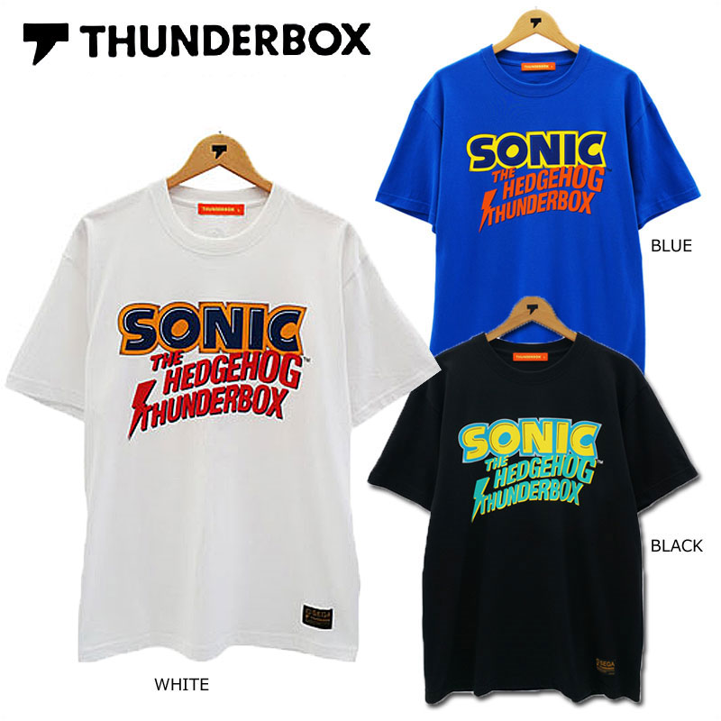 THUNDERBOX(サンダーボックス)/SONIC×TB CLASSIC LOGO/半袖Tシャツ/SONIC THE HEDGEHOG/ソニック・ザ・ヘッジホッグ