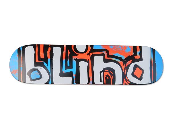 【スケボー/スケートボード/パーツ】blind (ブラインド) OG WATER COLOR RHM RED / BLUE 7.75インチ/デッキ/幅19.7cm×長さ79.2cm