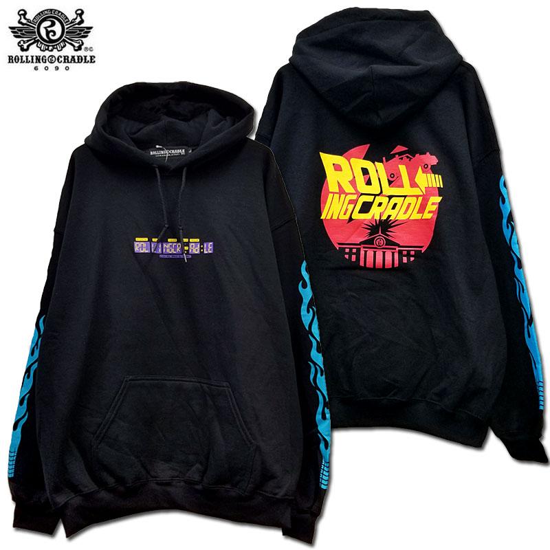 【ロリクレ】ROLLING CRADLE(ローリングクレイドル) /TIME TRAVEL HOODIE [Black]/フードパーカー