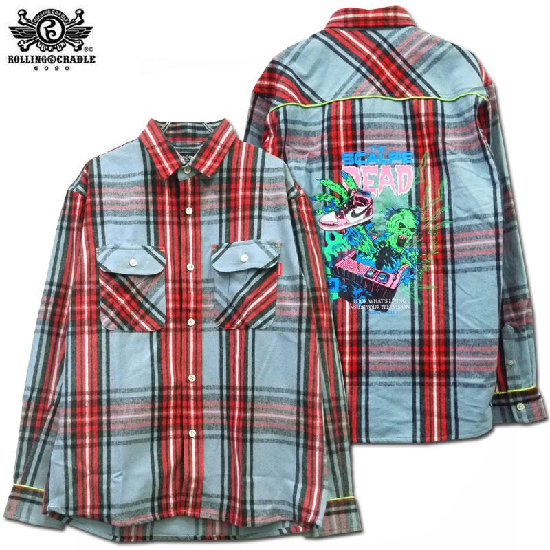 【SALE】【ロリクレ】ROLLING CRADLE(ローリングクレイドル) CHECK SHIRT/ネルシャツ