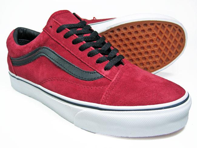 vans old skool red black