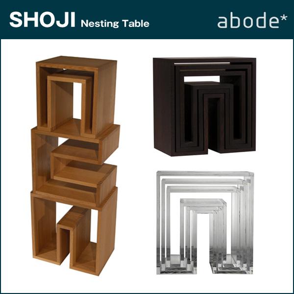 abode【アボード】SHOJI ネストテーブル SHOJI-ネスティングテーブル (3個セット)【日本製】SHOJI-Nesting Tables(3-piece-set)