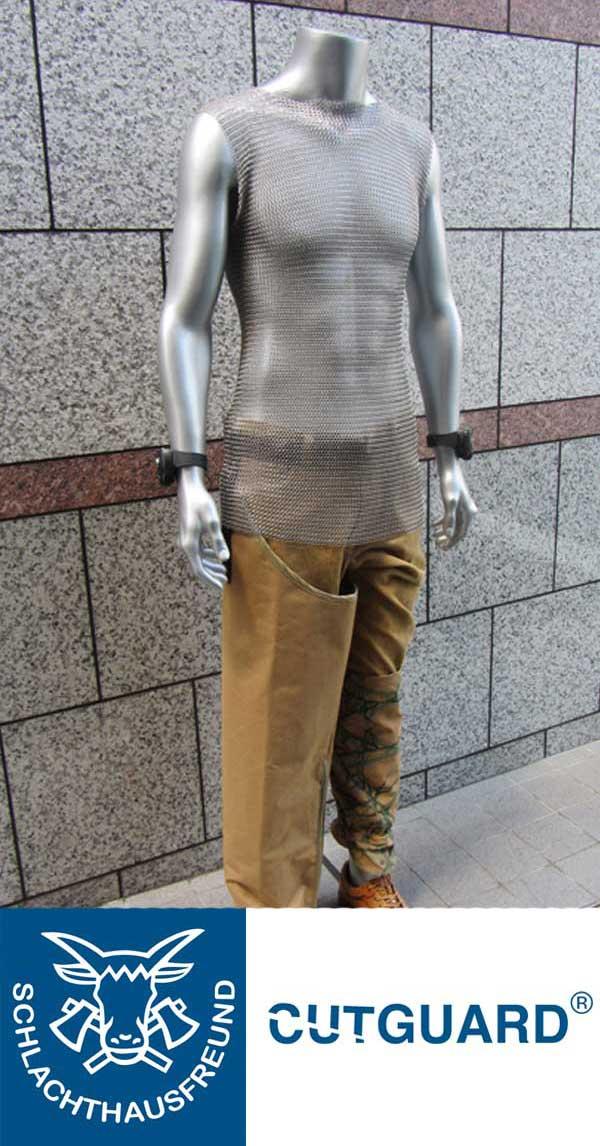 7mm ステンレスメッシュシャツ ノースリーブ サイズ XXL