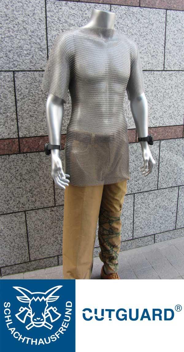 7mm ステンレスメッシュシャツ ショートスリーブ サイズ XL