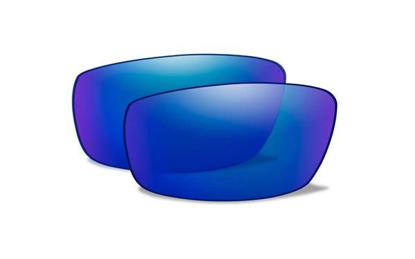 【Wiley X正規販売店】ワイリーエックス タイド TIDE 交換 偏光 ブルーミラー レンズ(レンズのみ)【お取り寄せ品】