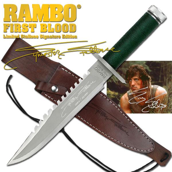 ランボー 1/RAMBO I ファーストブラッド サバイバルナイフ RB1 シルベスター・スタローンサイン入り 10000本限定品