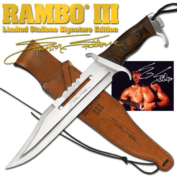 新型 ランボー 3/RAMBO III シグネイチャー サバイバルナイフ RB3 シルベスター・スタローンサイン入り 10000本限定品