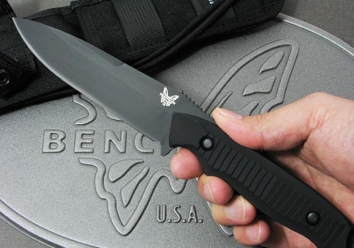 【送料無料】ベンチメイド/BENCHMADE 140BKニムラバス ナイフ 直刃・黒【日本正規品】