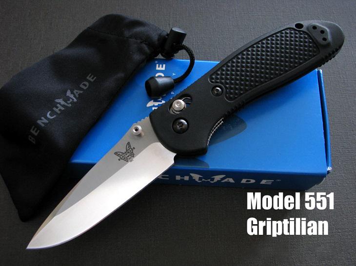正規ディーラー品 ベンチメイド/BENCHMADE 551 Griptilian シルバー/直刃ナイフ
