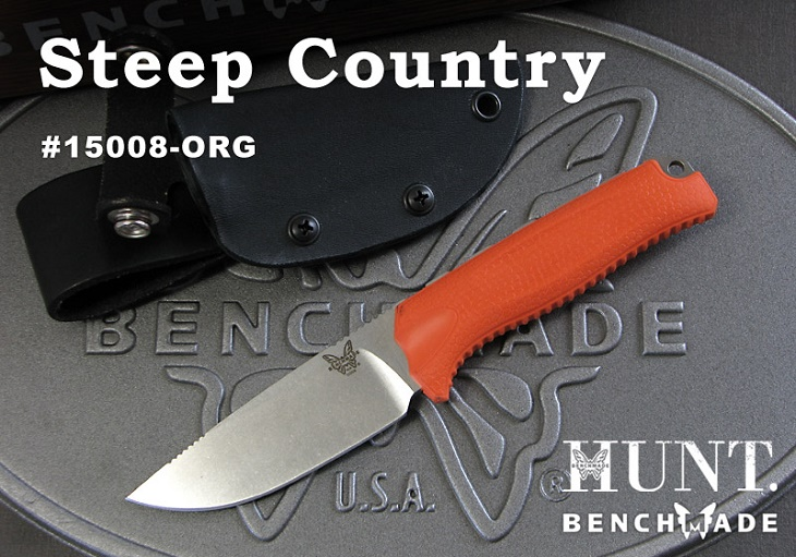 正規ディーラー品 ベンチメイド/BENCHMADE ハント 15008-ORG Steep Country スティープ・カントリー /オレンジハンドル ナイフ