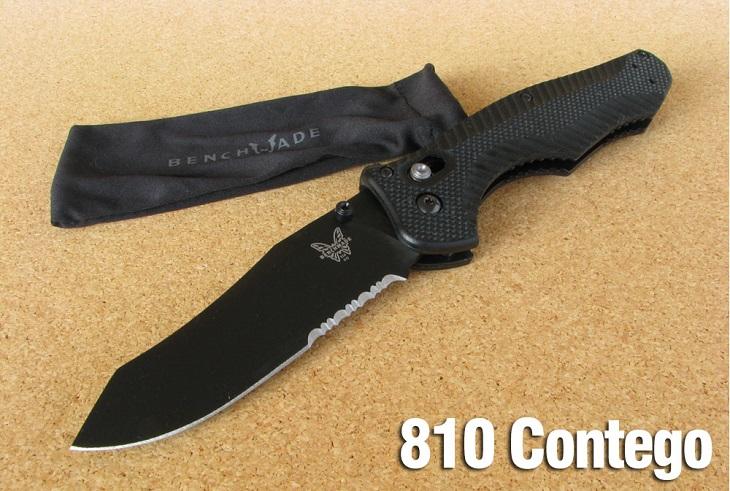【送料無料】ベンチメイド/BENCHMADE 810SBK コンテゴ ナイフ コンビ刃・黒【日本正規品】