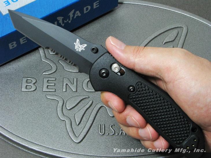 【日本正規品】BENCHMADE/ベンチメイド #553SBK Griptilian グリップティリアン T-ポイント ブラック直・波コンビ刃 折り畳みナイフ アクシスロック