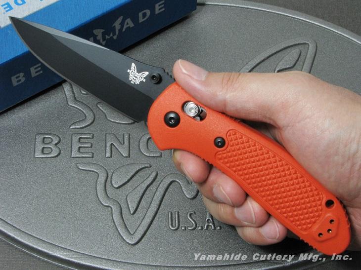【日本正規品】BENCHMADE/ベンチメイド #551BK-ORG Griptilian グリップティリアン ブラック直刃/オレンジハンドル 折り畳みナイフ アクシスロック