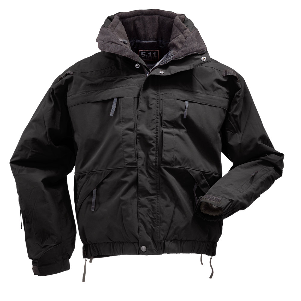 軍用 5.11 ファイブイレブン タクティカル 全天候・防寒 5 in 1 デューティー ジャケット ブラック S
