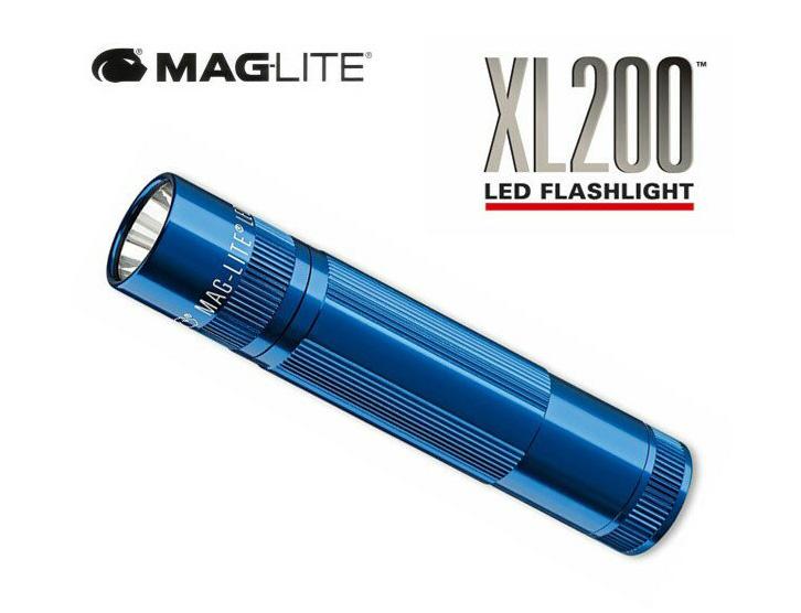 【送料無料】マグライト/MAGLITE 5モード LED フラッシュライト XL200 青 懐中電灯 専用ケース付