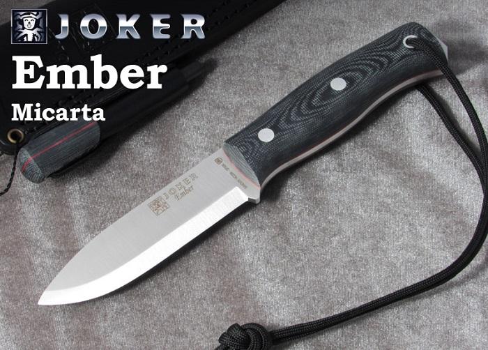 スペインの有名ナイフメーカー ジョーカー CM122-P エンバー マイカルタ ファイヤースターター付 ブッシュクラフトナイフ BUSHCRAFT Joker HANDLE MICARTA KNIFE EMBER 安い SCANDI 交換無料