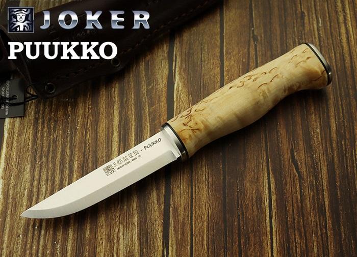 スペインの有名ナイフメーカー ジョーカー CL127 プッコ カーリーバーチ ブッシュクラフトナイフ Joker Bushcraft PUUKKO BIRCH 入荷予定 knife 卸直営 CURLY Handle