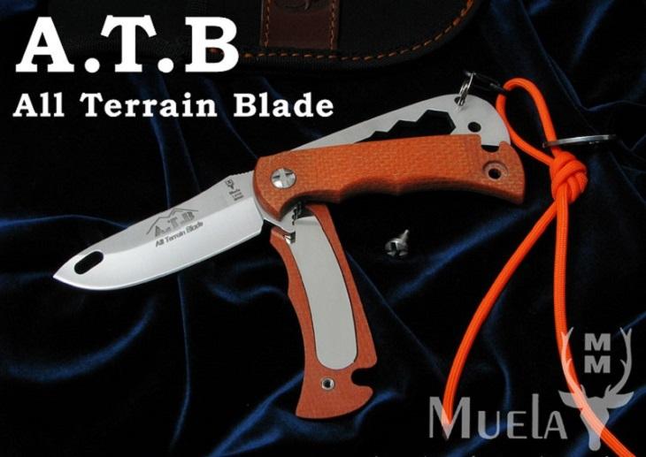 Muela/ムエラ ATB-9.O オール・トレイン・ブレード /オレンジ シースナイフ