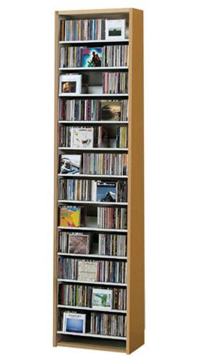 CDラック 棚 CD収納 ラック 壁面 棚 ナチュラル スリム CD dvd収納 大容量 dvd dvdラック CD最大540枚収納可能 薄型 コンパクト ディスプレイ 壁面収納 日本製 収納家具 大量収納 デザイン 500枚以上 トール おしゃれ