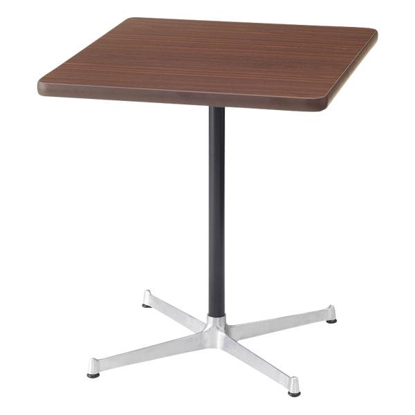ダイニングテーブル 一本脚 カフェテーブル 1本脚 一人用 長方形 二人 国産 ミッドセンチュリー カフェ テーブル 60 北欧 カフェ風 シンプル コンパクト インテリア ブラウン レトロ モダン 日本製 西海岸風 インテリア おしゃれ 約幅60cm 約奥行70cm 約高さ70cm